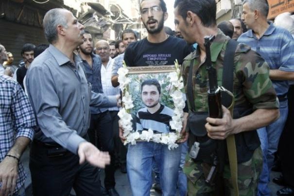 Από την κηδεία πολίτη της Μααλούλα που έπεσε θύμα των ισλαμοφασιστών