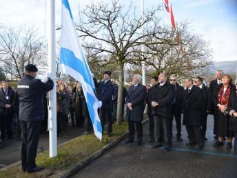 Η ισραηλινή σημαία προστέθηκε στη γραμμή των σημαιών που εκπροσωπούν τα κράτη μέλη του οργανισμού σε χιλ. παρουσία του ισραηλινού ΥΠΕΞ Αβιγκντόρ Λίμπερμαν.