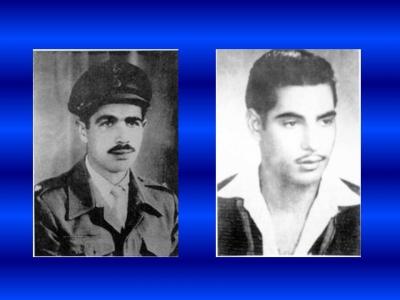 Γρηγόριος Αυξεντίου 22 Φεβ 1928 – 03 Μαρ 1957 Ευαγόρας Παλληκαρίδης 27 Φεβ 1938 – 14 Μαρ 1957