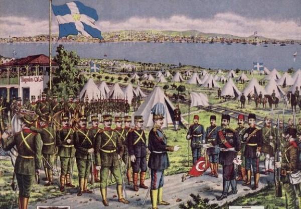 Ο ελληνικός στρατός μπαίνει στη Θεσσαλονίκη τον Οκτώβριο του 1912