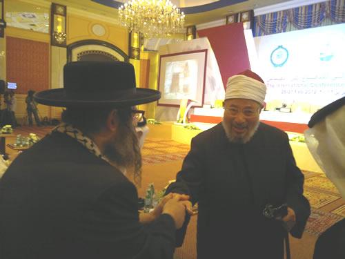 8-RabbiWeissWithShaikAlQaradawi