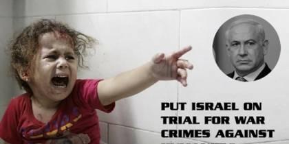 Απαιτούμε το Διεθνές Ποινικό Δικαστήριο να αποδώσει κατηγορίες και να δικαστούν ο Νετάναχιου και το Ισραήλ για εγκλήματα πολέμου ενάντια στην ανθρωπότητα